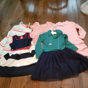 Lot of 5 Girls Dresses Sz M, 7/8, 8 Gymboree